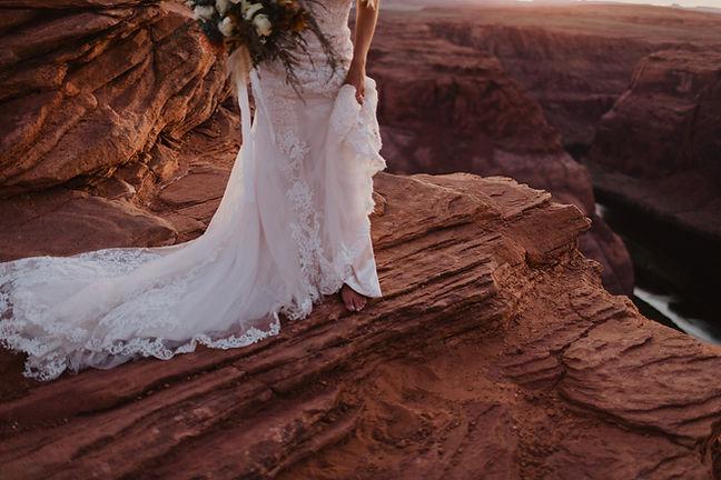 Bride in wedding dress Utah