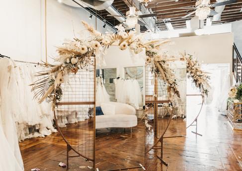 Bridal boutique mirror