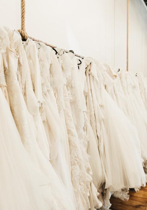 Wedding dress rack