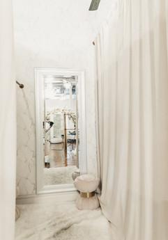 Dressing room interior