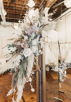 Wedding floral arch mirror