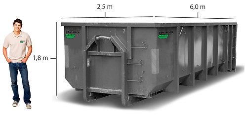 20 kub. åpen container til hageavfall til leie i Bergen og Os