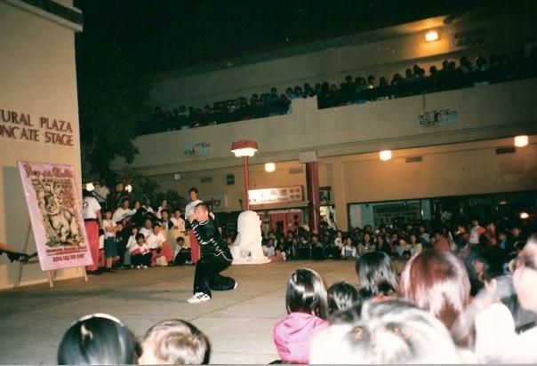 Wes Hardy performing Praying Mantis Kung Fu 1998
