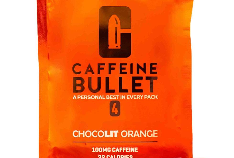 Caffeine Bullet - 4 Packets - 16 Chocolate Orange Energy Chews