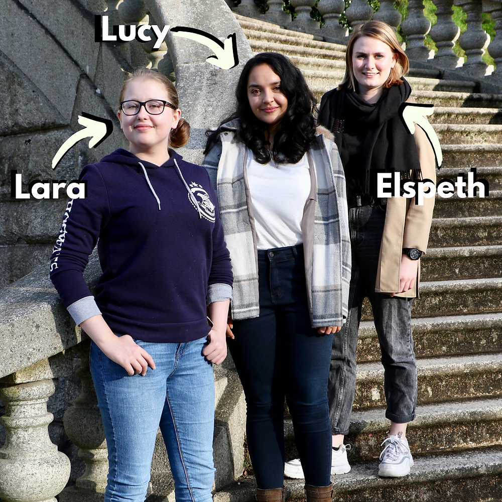 An image of Lara, Lucy and Elspeth, the founders of Three Left Feet