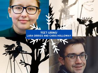 Feet-uring... Lara Orriss and Chris Holloway
