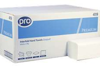 Pro Inter-fold Hand Towels 3200 in a case
