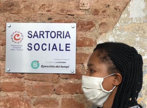 Da Museo del Tessile e Sartoria Sociale 2000 mascherine protettive per il Chierese