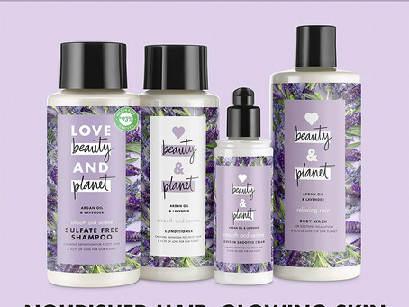 Love Beauty And Planet Smooth and Serene Shampoo, Conditioner and Leave In smoothie cream, Argan Oil