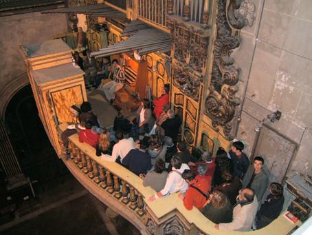 2016 - July 10th   Open door to the Grand Organ in Mataro Basilica, Barcelona