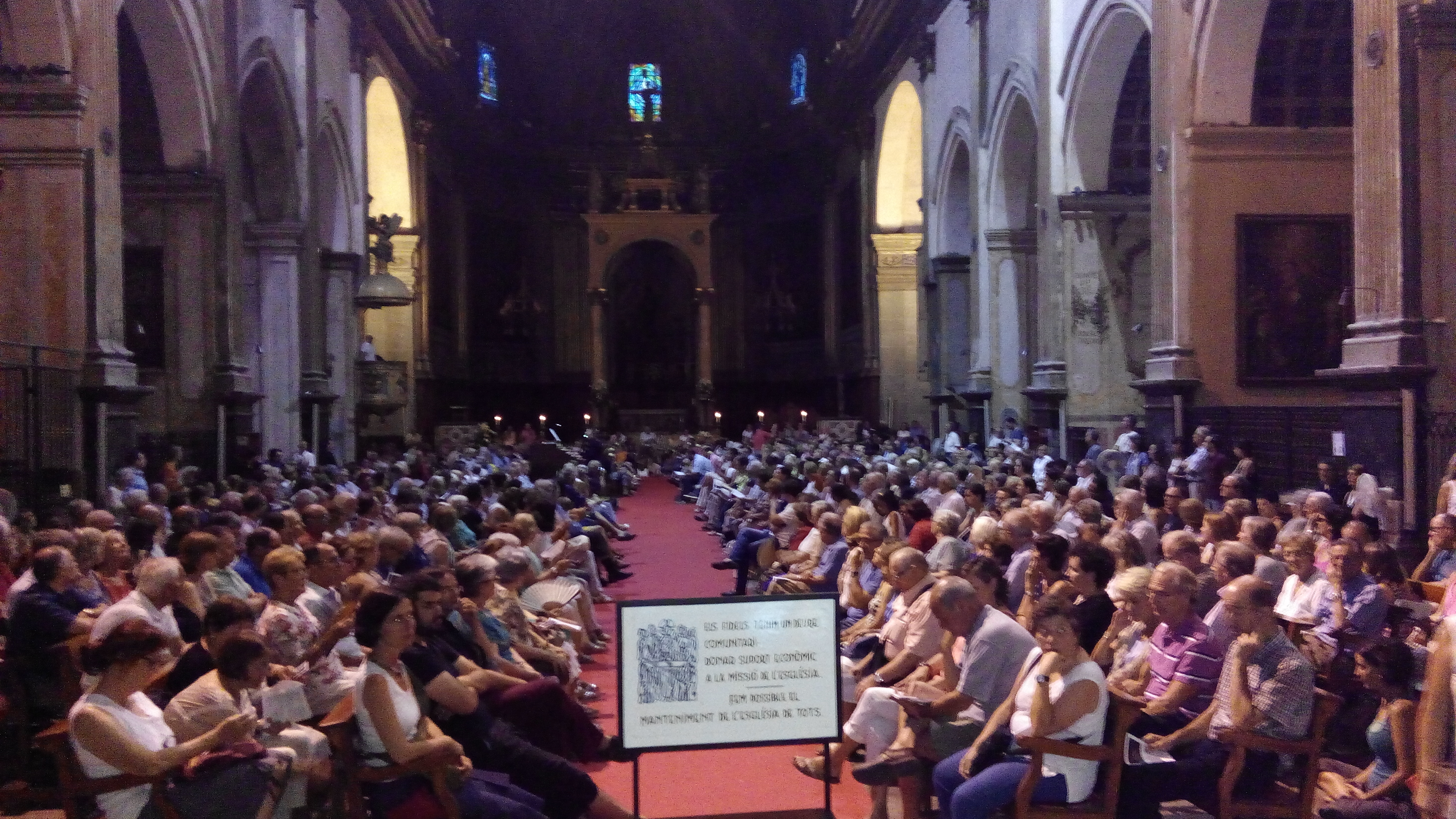 Audience for the 3 Organs Concert