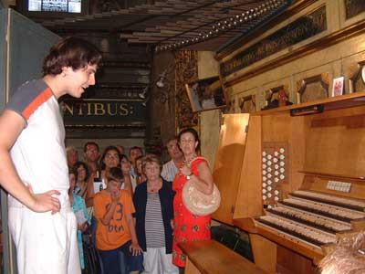 2016 - July 1st   Open door to the Grand Organ in Mataro Basilica, Barcelona