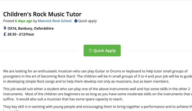 We need a band Tutor!