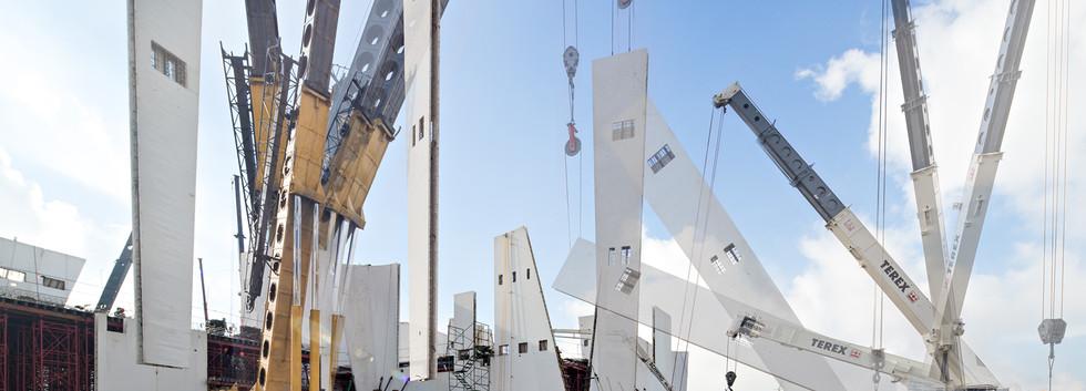 Museo Internacional del Barroco Construction Toyo Ito & Associates. Shot for Danstek.