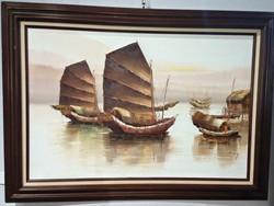 Mid Century oil Wong
