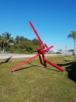 Large outdoor art sculpture for sale. Artist Dolf James.
