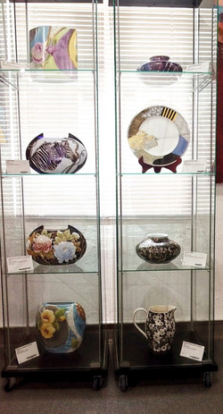 Painted china by Diana Young