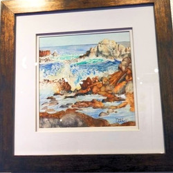 Surf Meets Turf watercolor M.Chabot