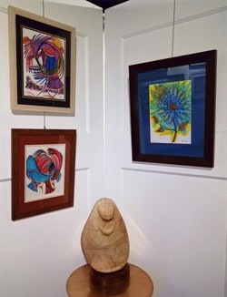 drawings by Randy Smith, Chippewa sculpture