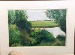 Reflections on the Creek pastel, Y.Kosek