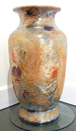 large floor vase Diana Young