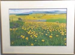 Sunflower Field pastel, Y.Koshi