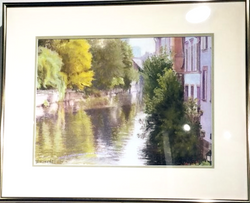 Reflections on the Canal pastel, Y.Kosek