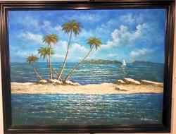 Untitled Highwaymen art, oil