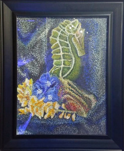 Seahorse pointillism A.Lewis