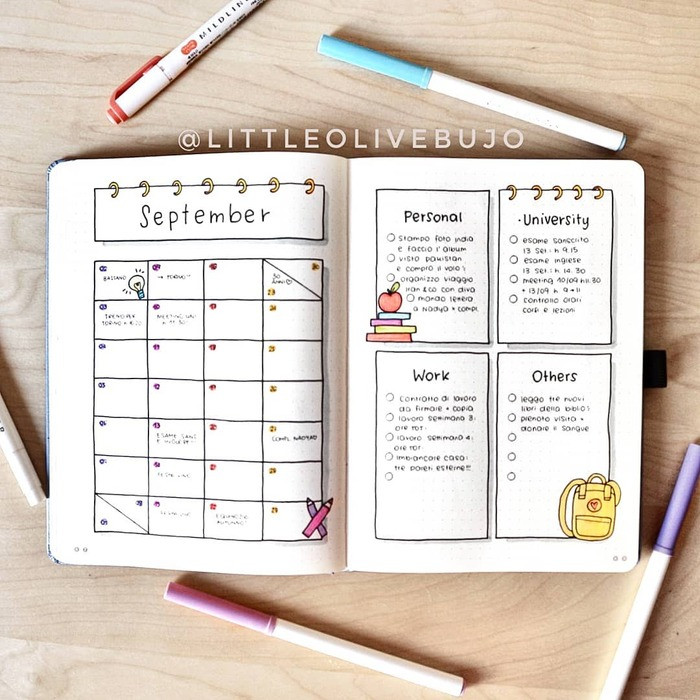 to-do list and goals for the month