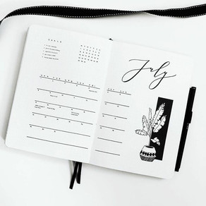 5 styles for your bullet journal's monthly spread