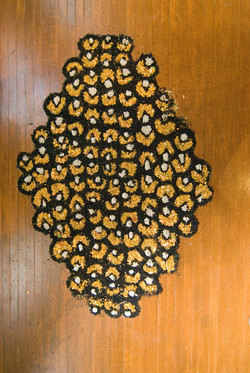Bee to the honeycomb  4' x 3' wood shavings and acrylic paint 2010