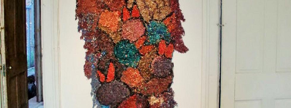 Chamula Birds 9' x 3' wood shavings, acrylic paint, silicon gel 2010