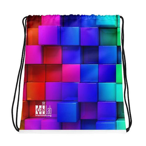 Rainbow Box Drawstring bag