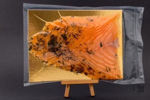 Saumon d'Ecosse Label Rouge mariné à l'aneth façon Gravlax (au poids)