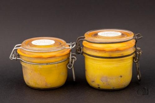 Foie gras de canard au naturel mi-cuit (au poids)
