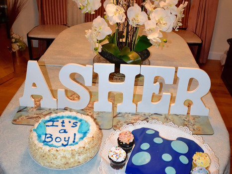 Sprinkling Asher with Lots of Love