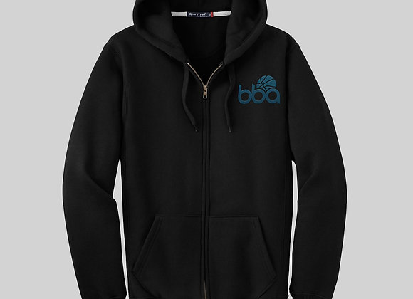 BBA Zip Up Hoody Black