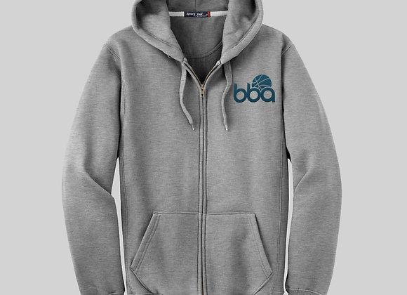 BBA Zip Up Hoody Grey