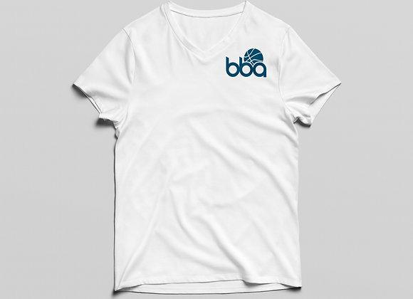BBA V Neck in White