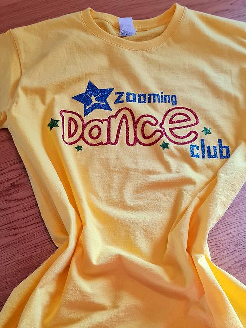 Zooming Dance Club Tshirt - Glitter Edition