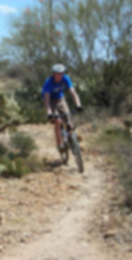 Mountain biker on desert trail