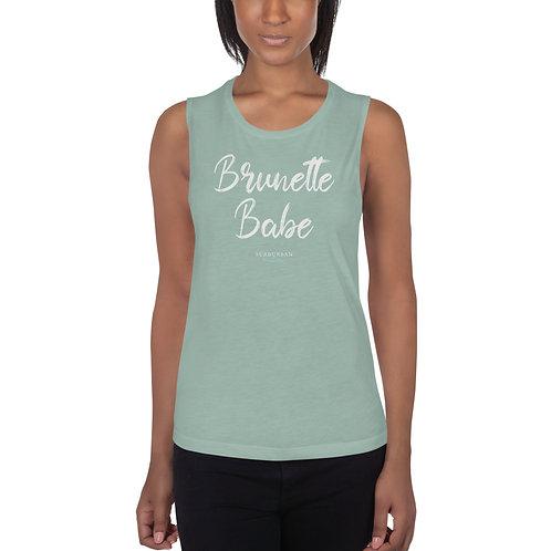 Brunette Babe - Muscle Tank