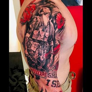 Custom trash polka tattoo sleeve.jpg
