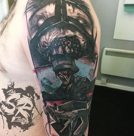 abstract horror custom zombie colour tat