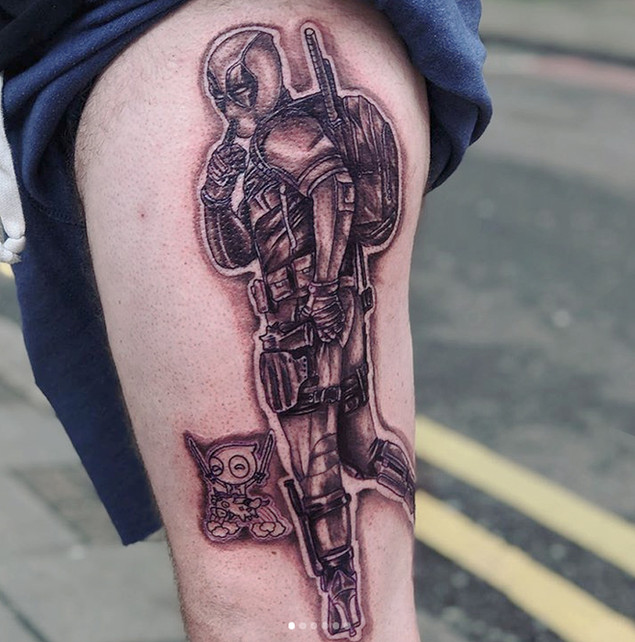Cool comic book tattoo