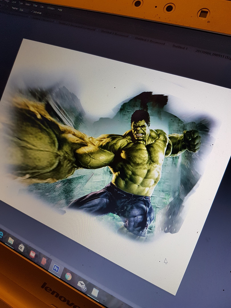 Ipad design of a Marvel movie