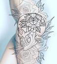 skull and roses female skull tattoo desi