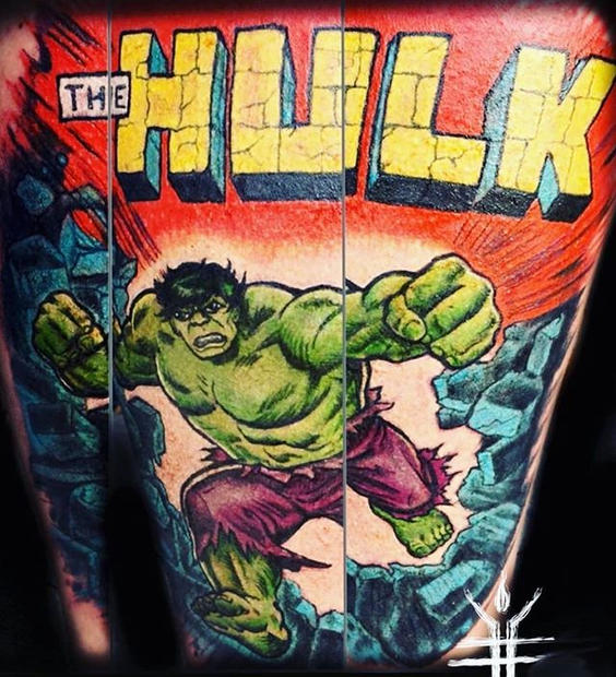 Awesome hulk piece by our resident artis
