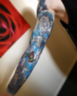 Gamer sleeve continues on... we started